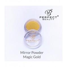 Polvo Efecto Espejo Dorado